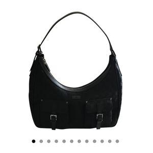 Gucci Black Monogram Handbag